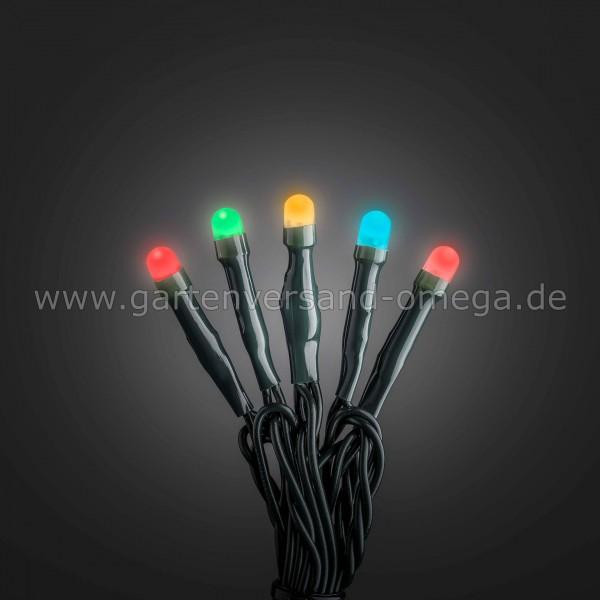 Bunte Micro-LED Lichterkette gefrostet - grünes Kabel