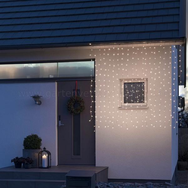 LED-Eisregen-Lichtervorhang gefrostet Warm-Weiß - Anwendungsbeispiel