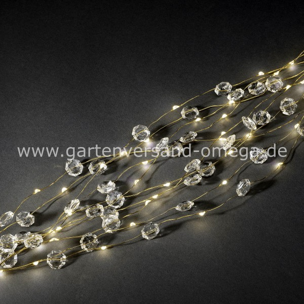 LED Diamantenlametta Golddraht