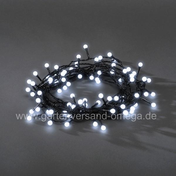 LED Kugeldioden-Lichterkette Kalt-Weiß