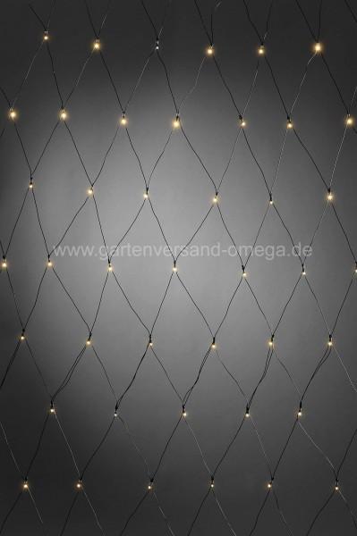 Batteriebetriebenes LED-Lichternetz 80-flammig
