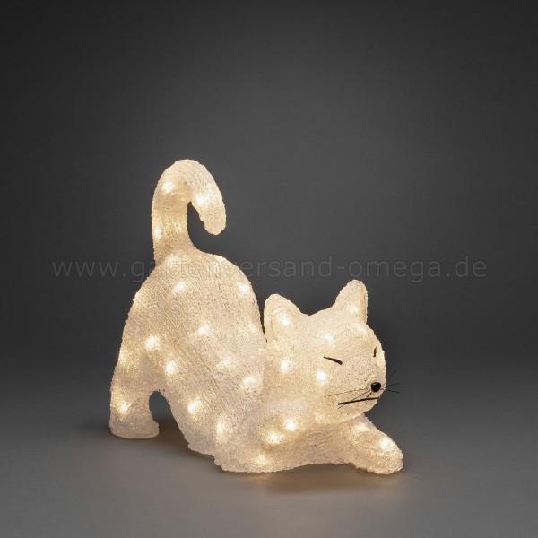 LED-Acryl Katze liegend