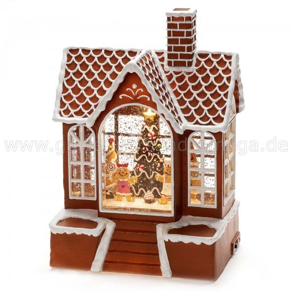 Wassergefüllte Weihnachtsdeko Lebkuchenhaus
