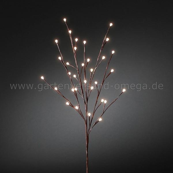 LED-Lichterzweig mit Glimmereffekt Braun