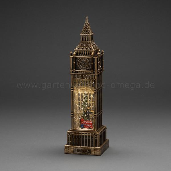Wassergefüllte LED-Dekoration Big Ben