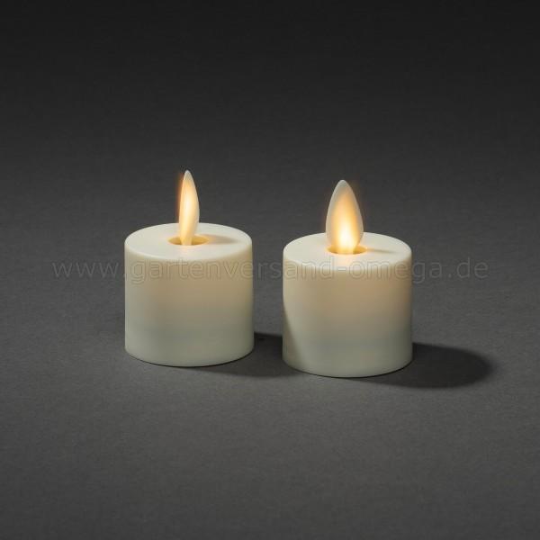 LED Teelicht mit 3D Flamme 2er Set