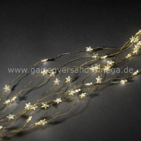 LED Sternenlametta Golddraht