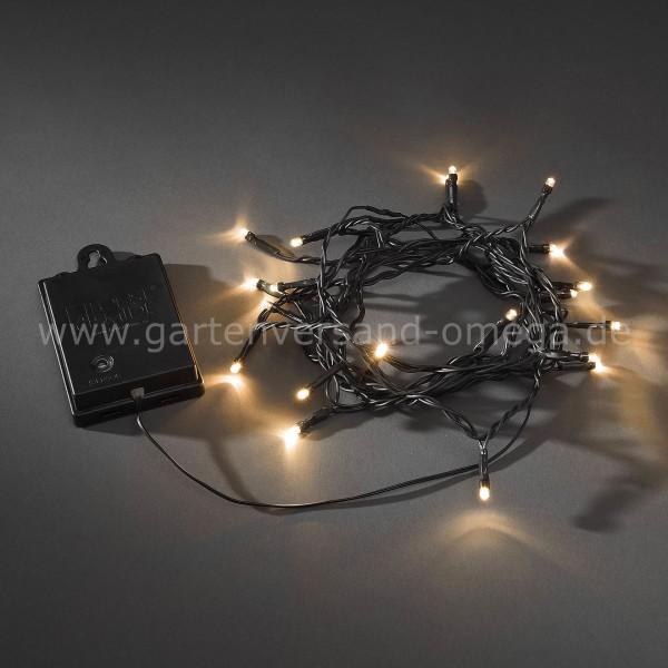 Batteriebetriebene Lichterkette für Außen Bernsteinfarben 20-flammig