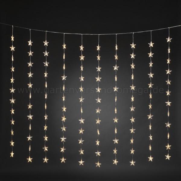 LED Sternen-Lichtervorhang für Fenster Warm-Weiß