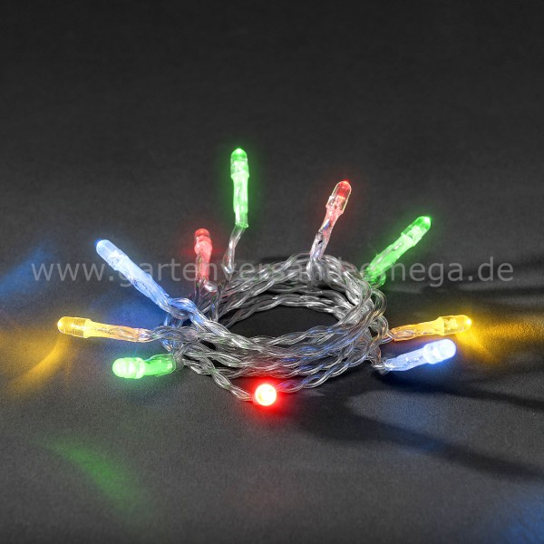 Batteriebetriebene LED-Lichterkette Bunt