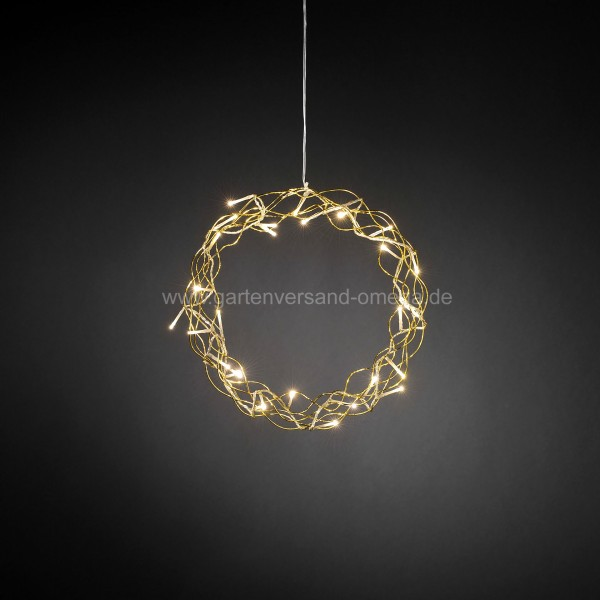 LED-Metallsilhouette Kranz Gold