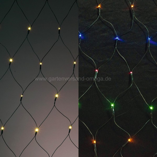 LED-Lichtnetz mit umschaltbarer Farbe