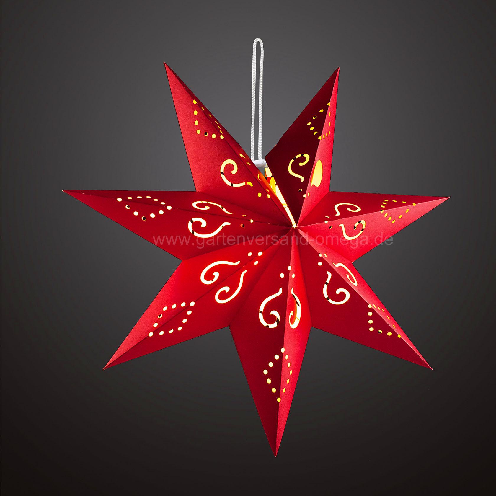 Batteriebetriebener led papierstern rot papierstern kabellos beleuchteter papierstern - Weihnachtsbeleuchtung kabellos ...