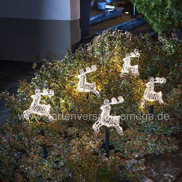 LED Leuchtstäbe-Set mit Rentieren