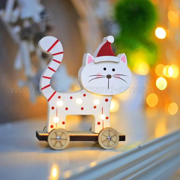 Anwendungsbeispiel - LED Holz-Katze Stehend