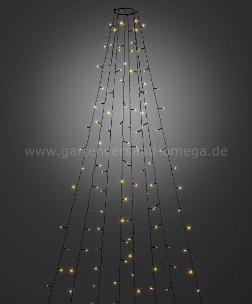 LED Baummantel-Lichterkette für Außen mit Glimmereffekt