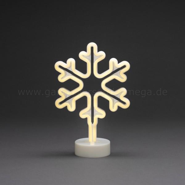 LED-Dekoration Schlauchsilhouette Schneeflocke