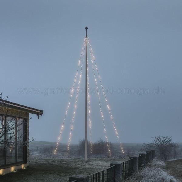 LED Fahnenmastbeleuchtung Warm-Weiß 8m