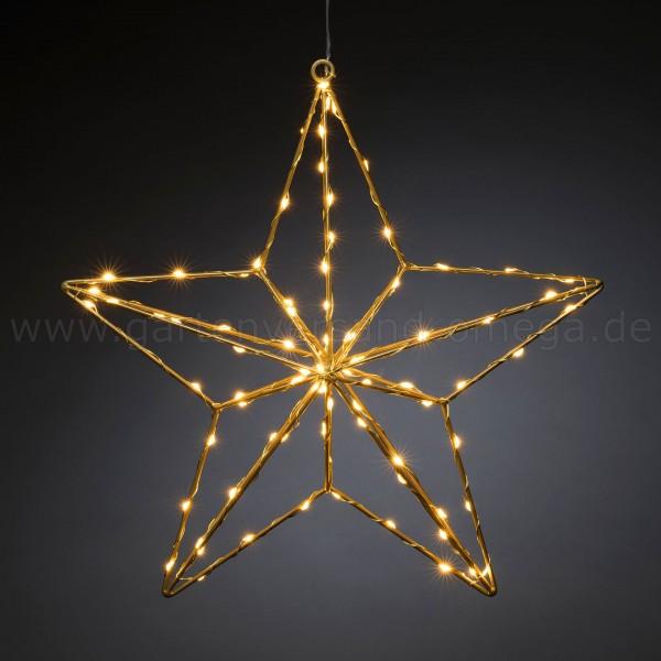 LED-Stern Gold - Weihnachtsbeleuchtung Fenster