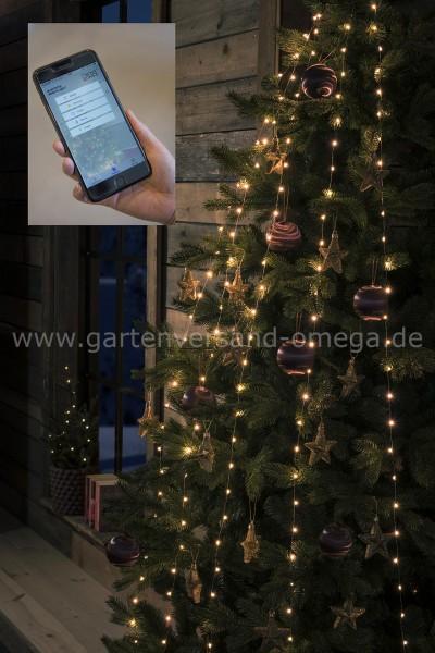 LED Baummantel-Lichterkette mit Drahtkabel und App-Steuerung