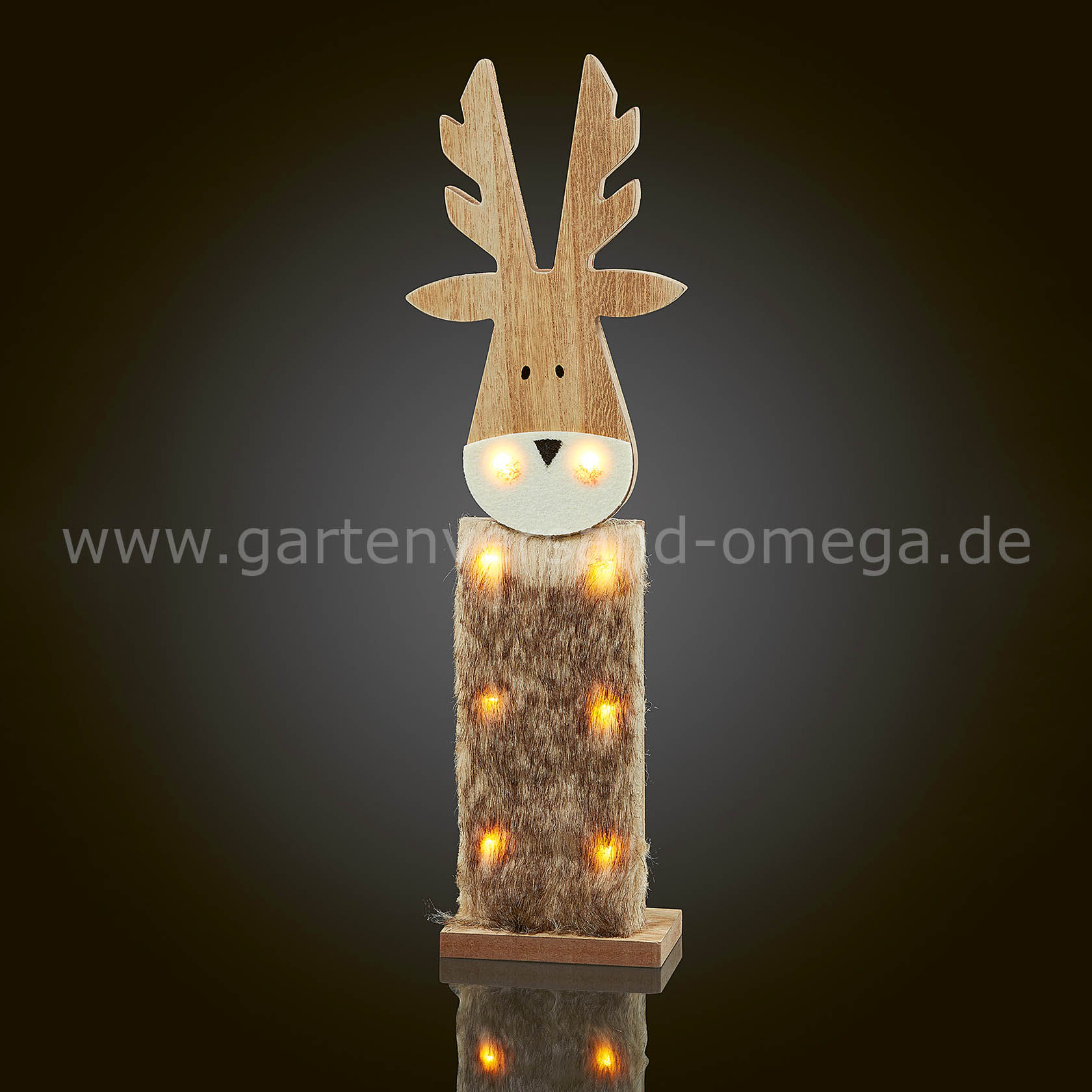 led holzrentier batteriebetriebene weihnachtsbeleuchtung. Black Bedroom Furniture Sets. Home Design Ideas