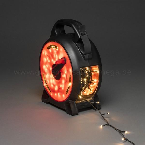 LED-Lichterkette mit Kabelaufroller Warm-Weiß