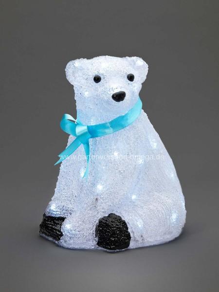 LED-Eisbär Sitzend