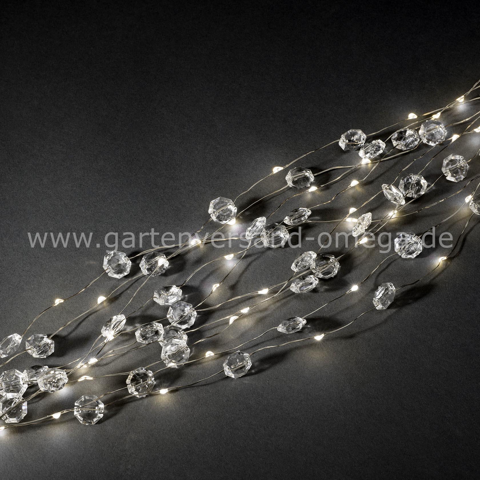 Led diamantenlametta silberdraht leuchtlametta schmucklichterkette weihnachtsschmuck - Fensterbeleuchtung innen ...