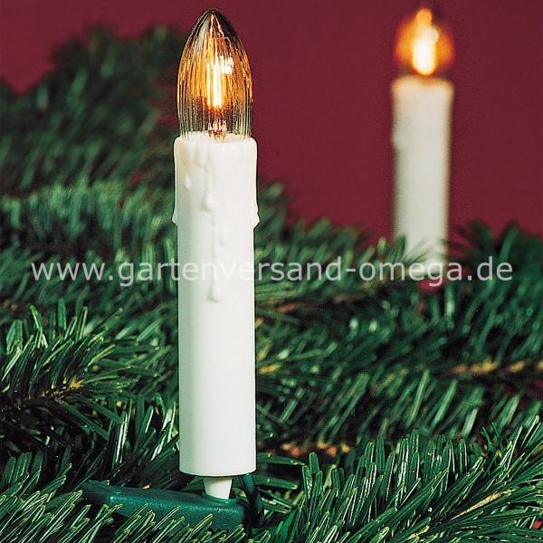 Lichterkette mit Wachstropfen - Weiß