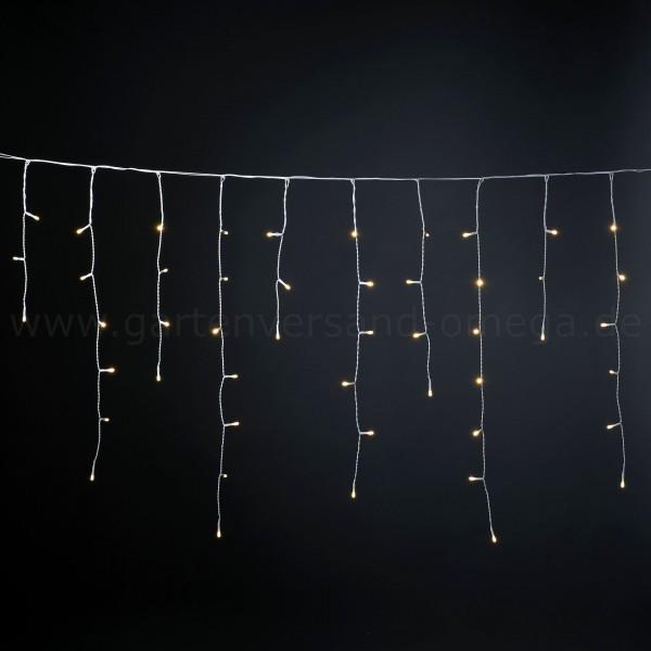 LED Eisregenvorhang gefrostet Warm-Weiß - Lichterkettenvorhang