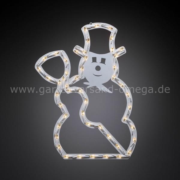Fensterbeleuchtung Weihnachten Led.Led Fenstersilhouette Schneemann
