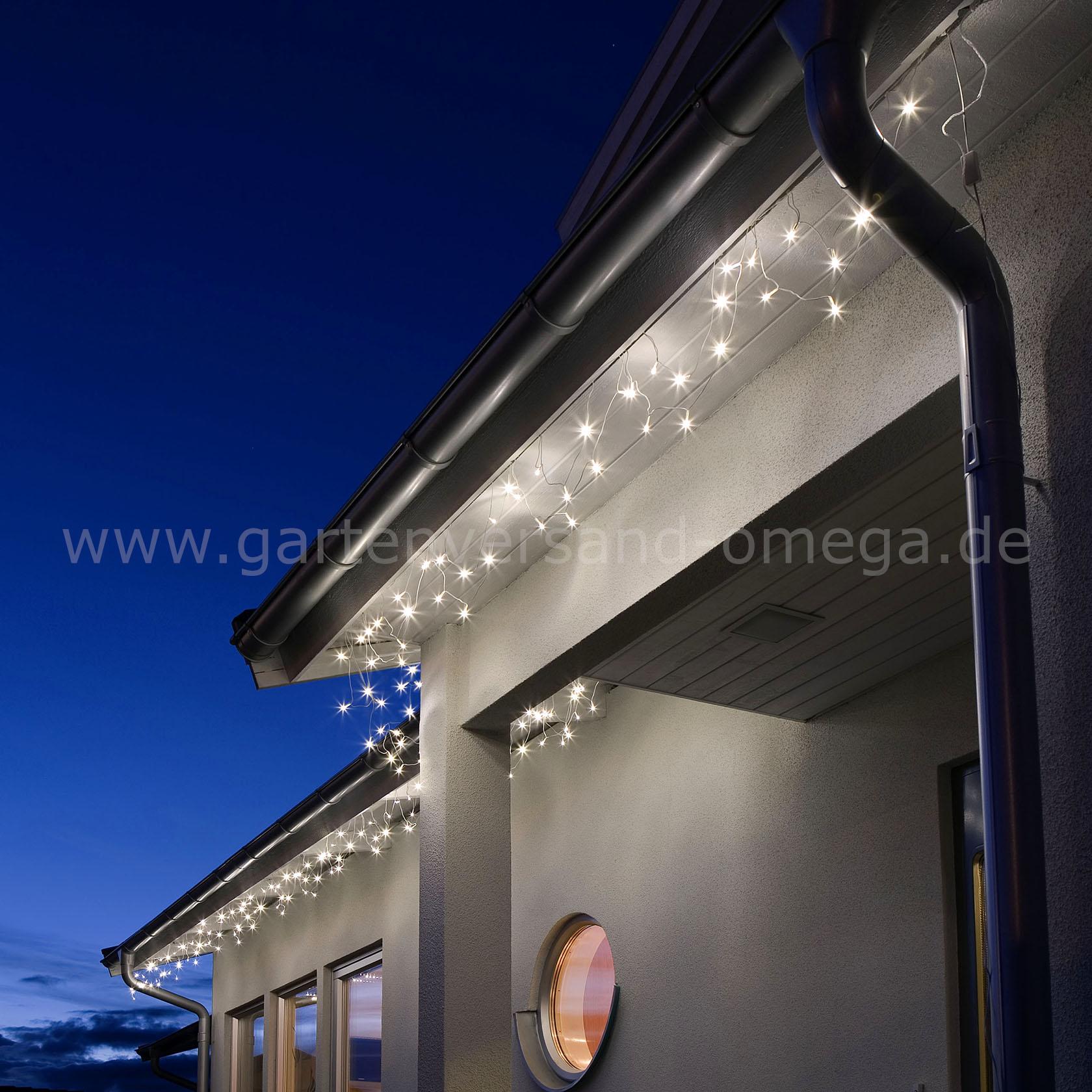 led dachrinnenlichterkette lichterkette f r dachrinnen weihnachtsau enbeleuchtung. Black Bedroom Furniture Sets. Home Design Ideas