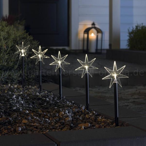 LED-Spießleuchte mit Sternen - LED-Sternenstäbe Dekoration