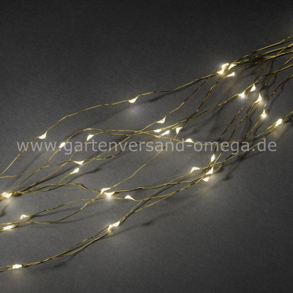 LED Tropfenlametta Golddraht