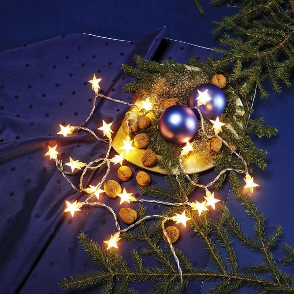 Micro-Lichterkette mit Weihnachtssternen