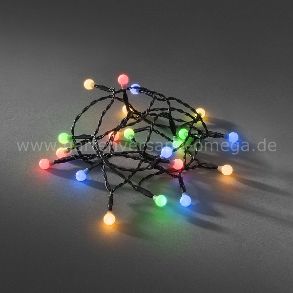 LED Kugellichterkette Bunt