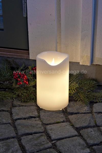 Elektrische Weihnachtsbeleuchtung Garten.Led Echtwachskerze Groß Adventskerzen Adventsaußenbeleuchtung