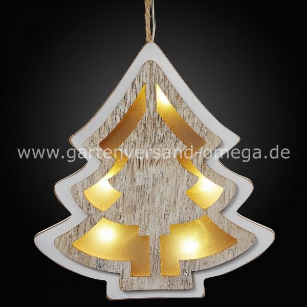 LED 3D-Tannenbaum aus Holz