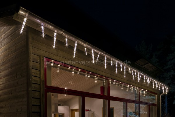 LED Eiszapfen-Lichtervorhang mit Lichtfunktionen