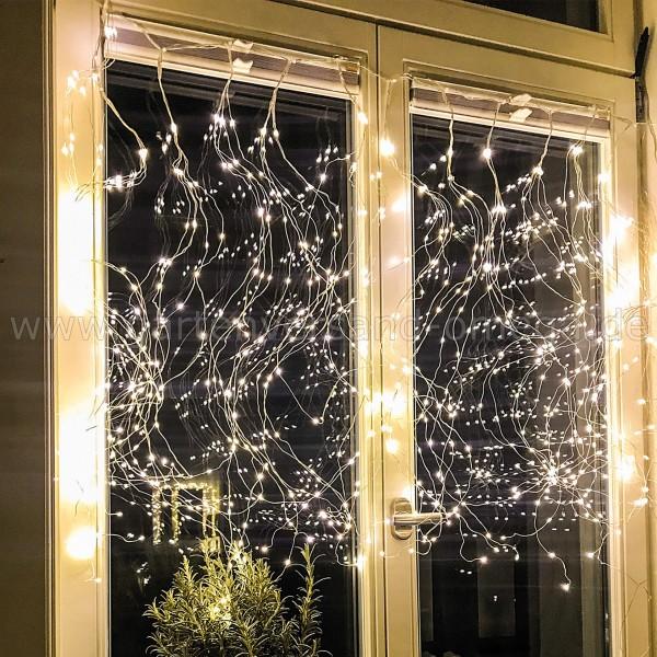 LED Tauperlen-Girlanden-Vorhang - Fensterbeleuchtung für Weihnachten