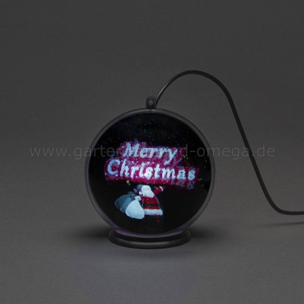 3D Hologrammkugel Merry Christmas