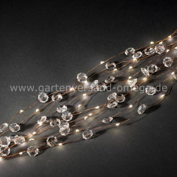 LED Diamantenlametta Kupferdraht