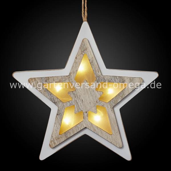 LED 3D-Stern aus Holz