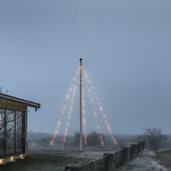 LED Fahnenmastbeleuchtung Bernsteinfarben 5m
