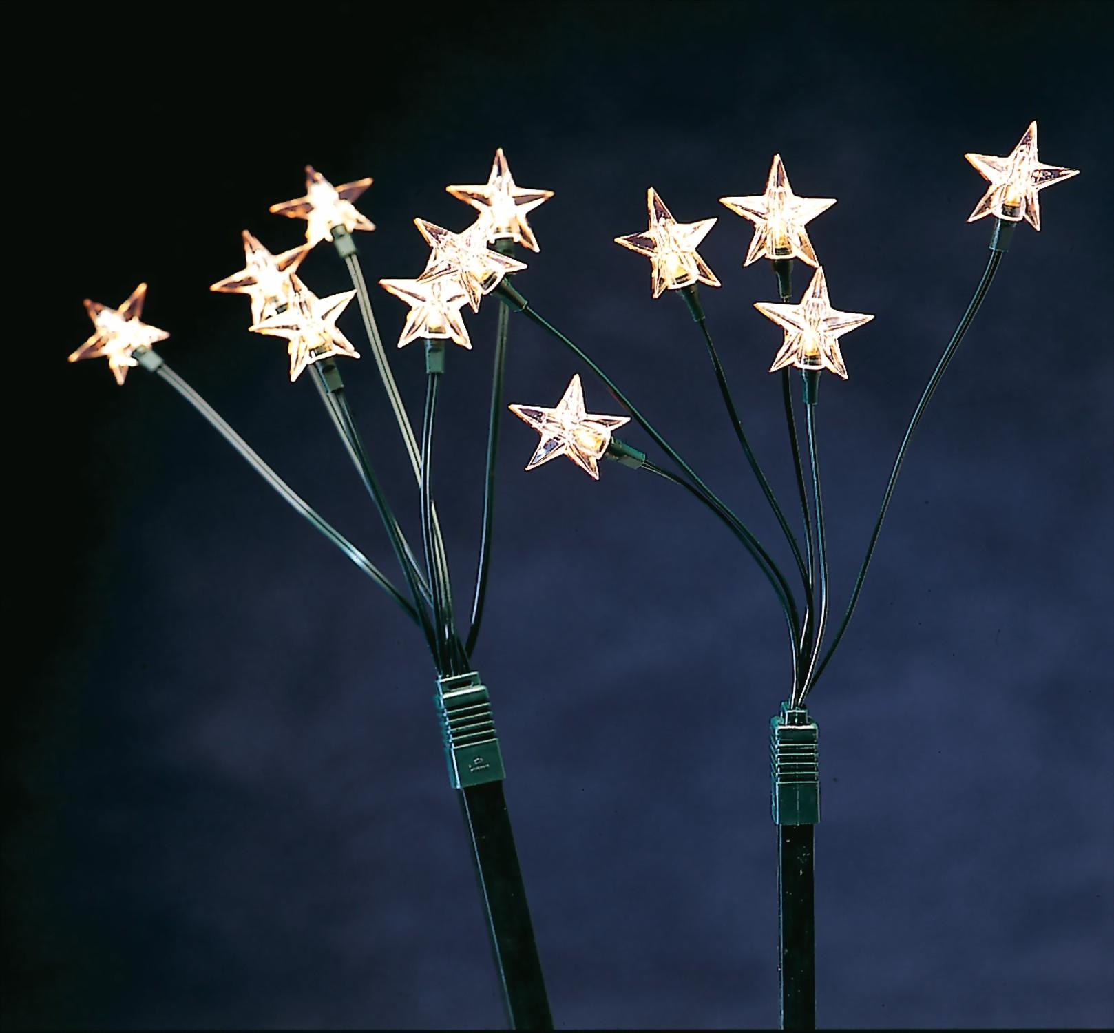 5er Set Sternenstäbe - Weihnachtsbeleuchtung, Lichtstäbe ...
