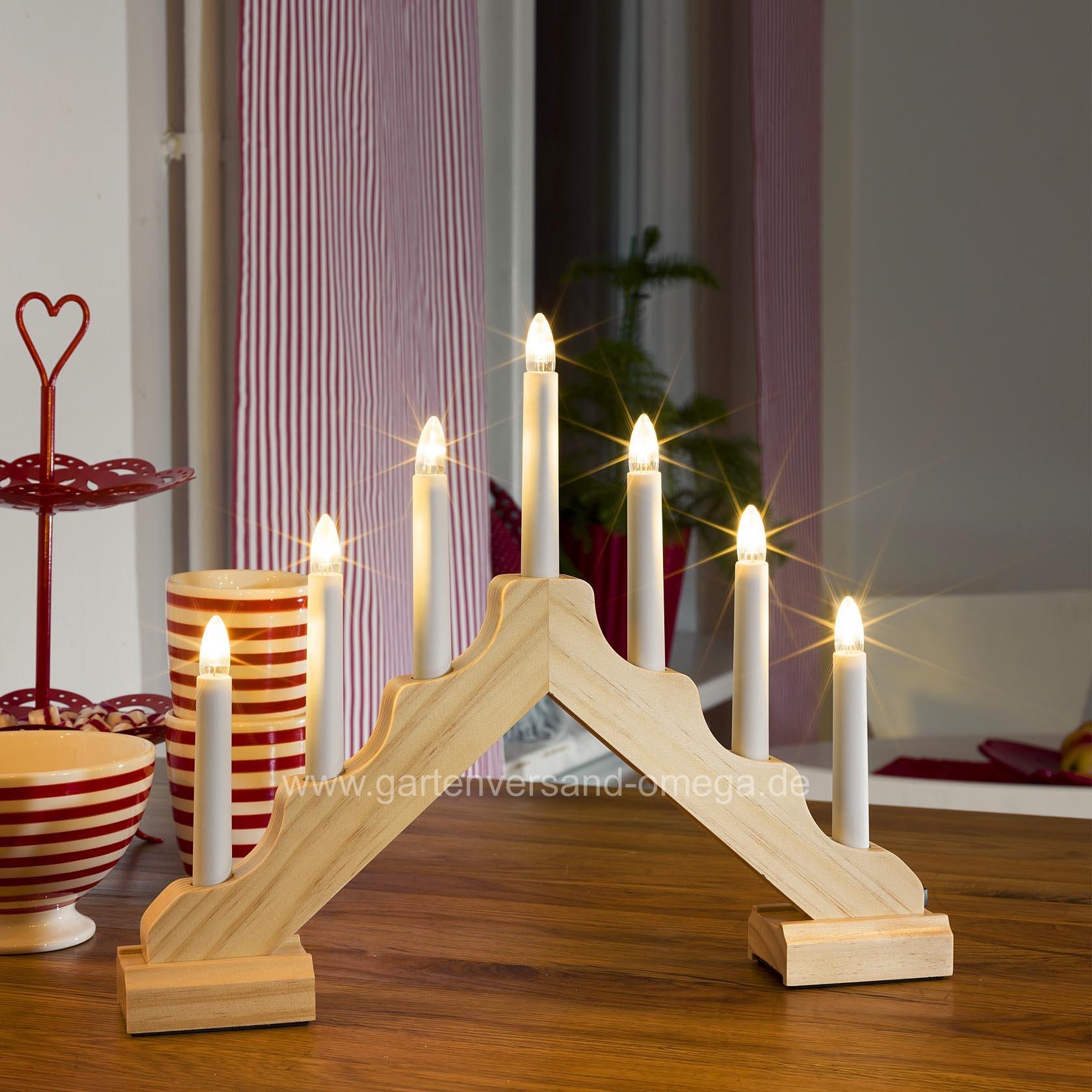 led holzleuchter batteriebetrieben lichterbogen. Black Bedroom Furniture Sets. Home Design Ideas