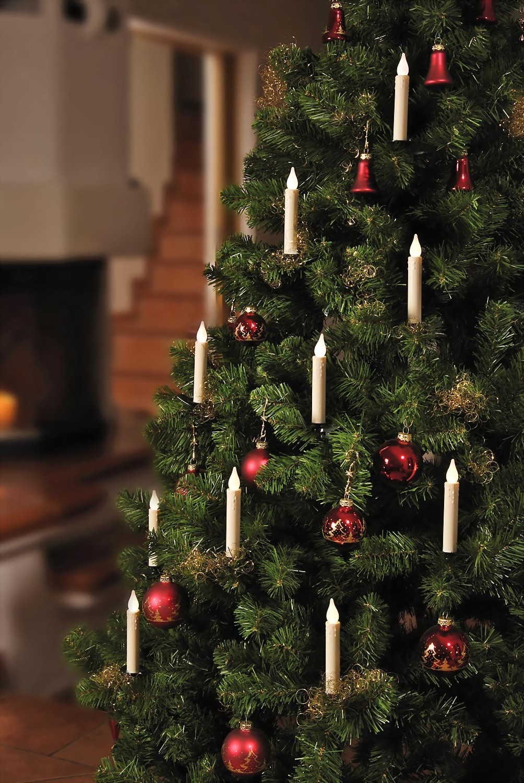 Kabellose weihnachtslichterkette lange kerzen - Weihnachtsbeleuchtung ohne kabel ...