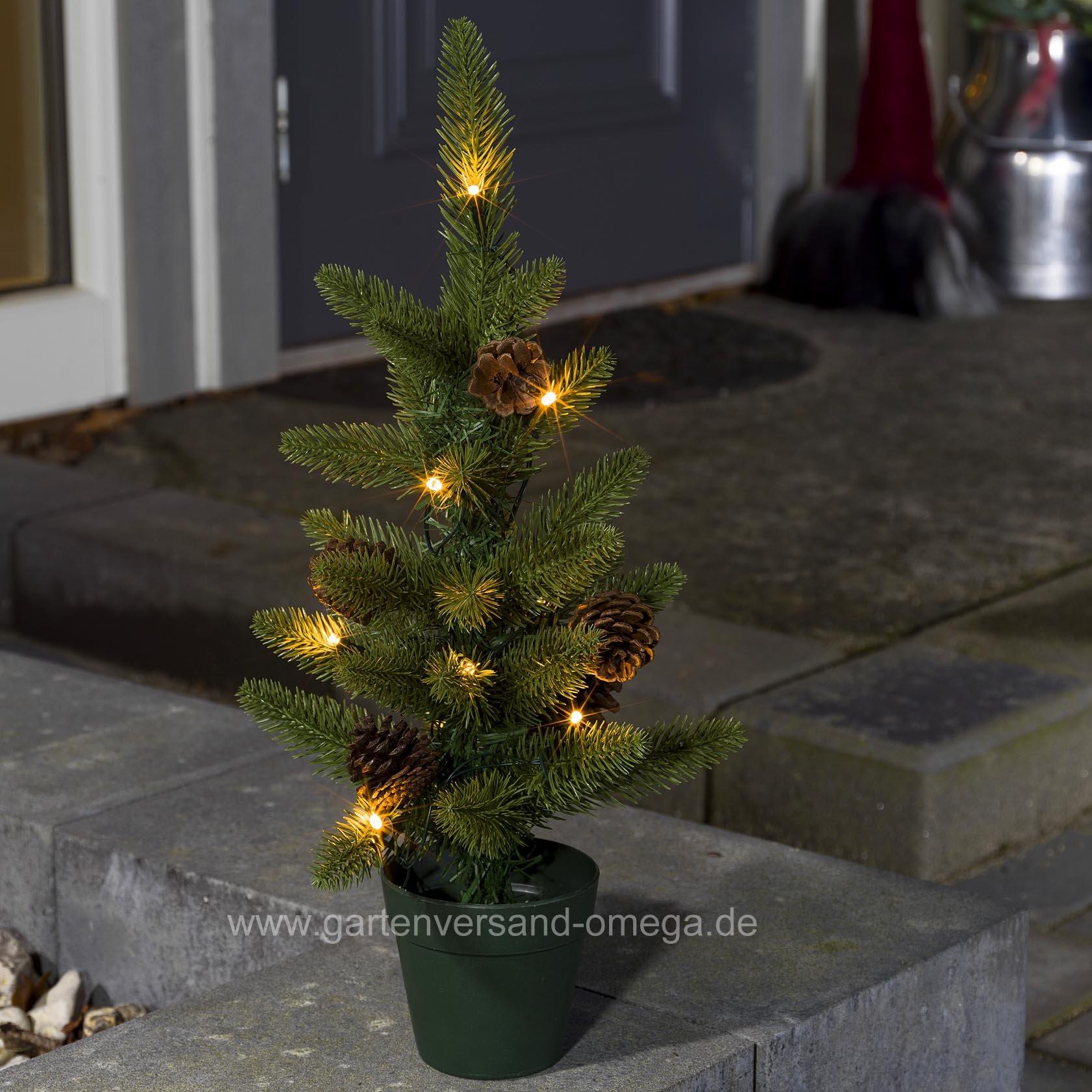 batteriebetriebener led weihnachtsbaum 45cm f r au en balkon beleuchtung weihnachten. Black Bedroom Furniture Sets. Home Design Ideas