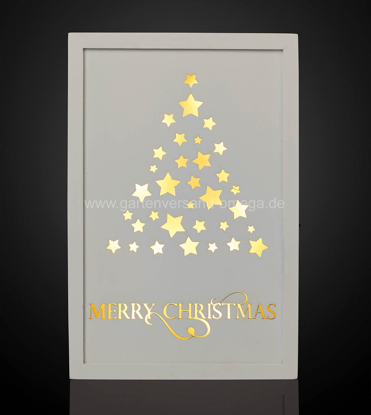 Led holzbild mit weihnachtsbaum led bild beleuchtetes - Weihnachtsbeleuchtung ohne kabel ...