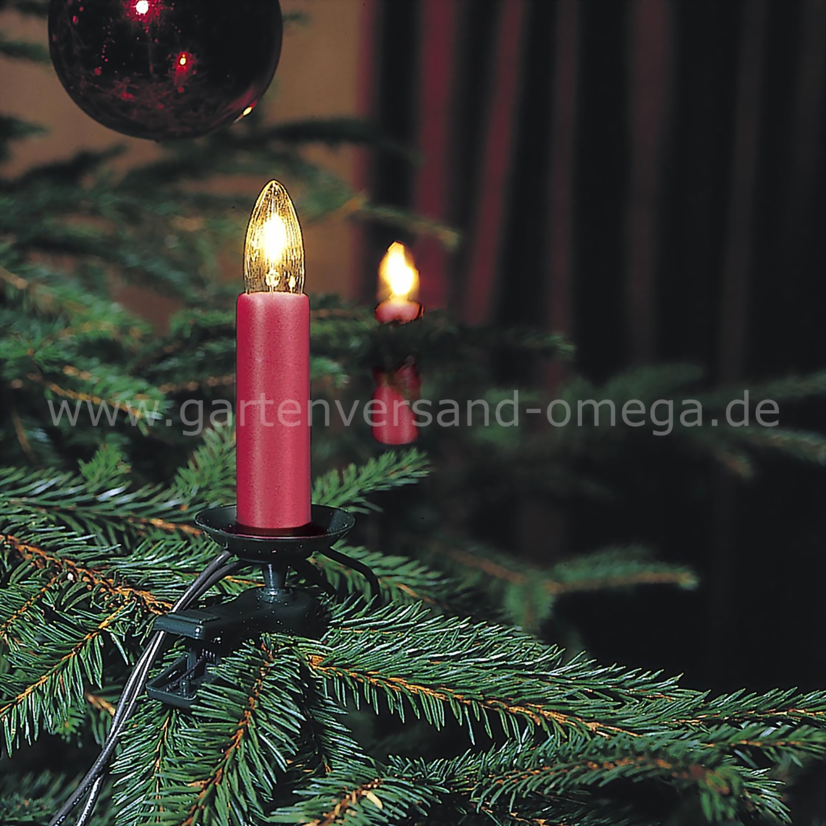 baumkette rot one string christbaumlichterkette. Black Bedroom Furniture Sets. Home Design Ideas